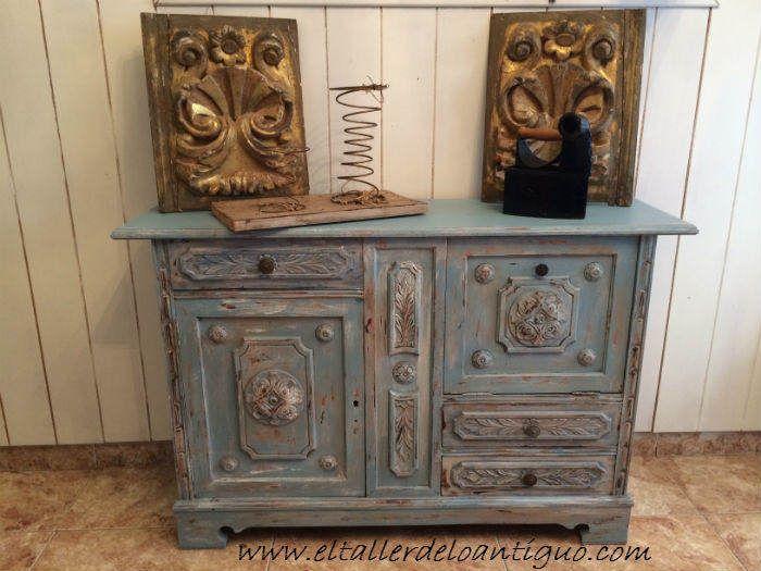 Pintar mueble t cnica decapado paso a paso tutorial para - Pintar muebles estilo vintage ...