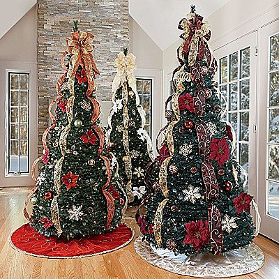 a pop up fully decorated christmas tree christmas for lazy people - Pull Up Fully Decorated Christmas Tree