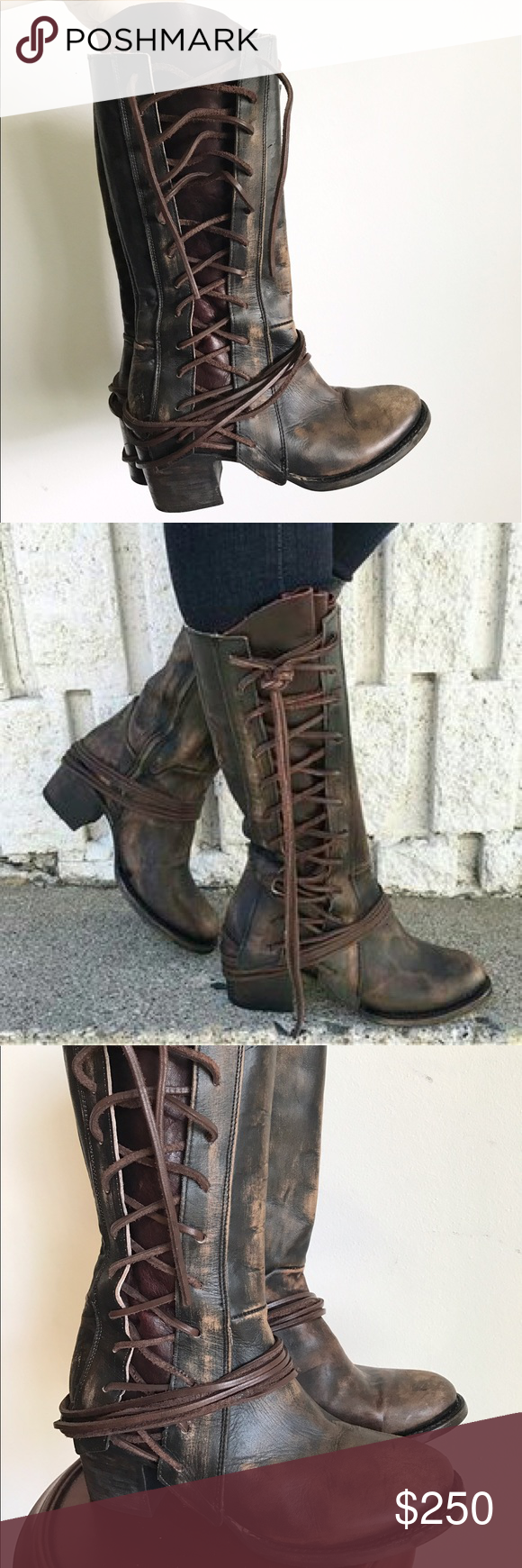b21cbcf6645 Freebird by Steve Madden Cash Leather Lace Up Boot Freebird by ...