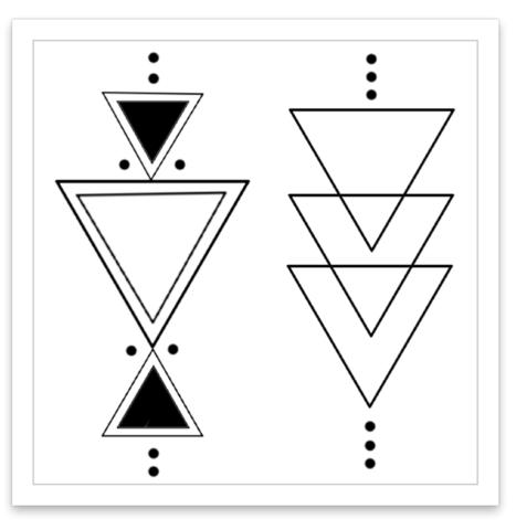 Inked By Dani Temporary Tattoos Boho Triangles Geometric Tattoo Triangle Tattoos Pattern Tattoo