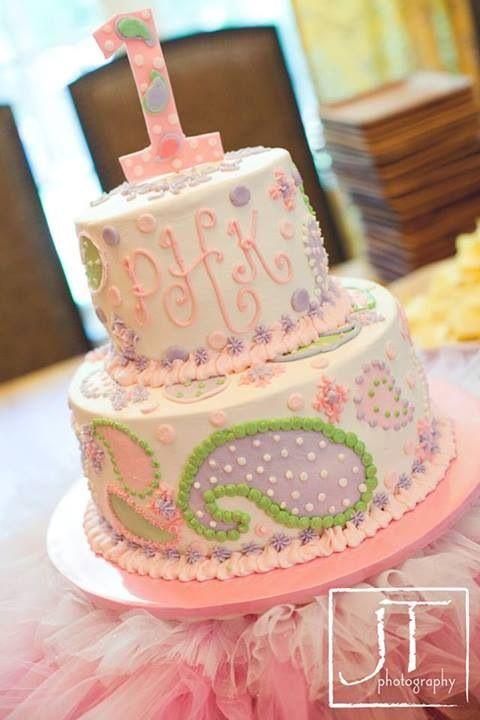 Cute Pastel Birthday CakeShabby Chic Birthdays Pinterest