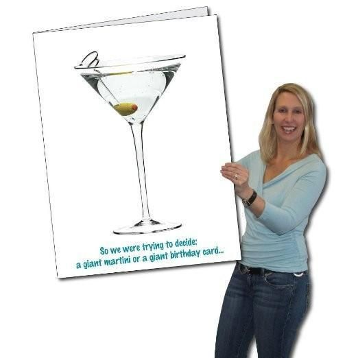 2x3 Giant Birthday Card Wenvelope Martini Products