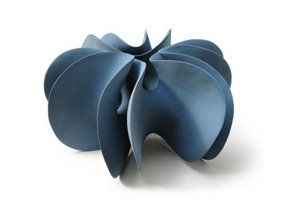 Merete Rasmussen  Blue double form, 2010 #ceramic 35 x 55 x 50 cm