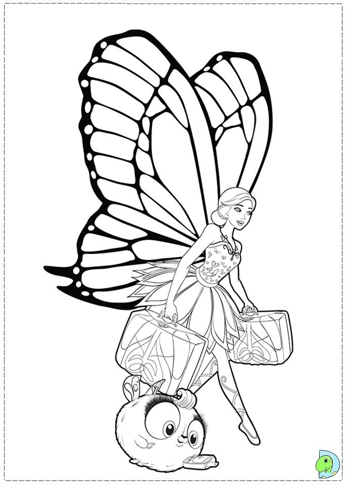 Barbie Mariposa And The Fairy Princess Coloring Page Dinokids Org Fairy Coloring Coloring Pages Princess Coloring
