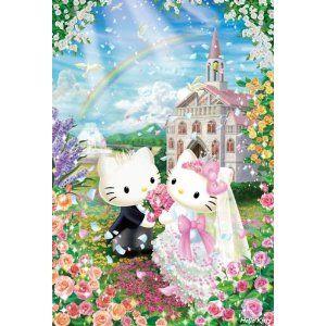 Hello Kitty Sweet Wedding 1000 Pieces Jigsaw Puzzle (49cm x 72cm)
