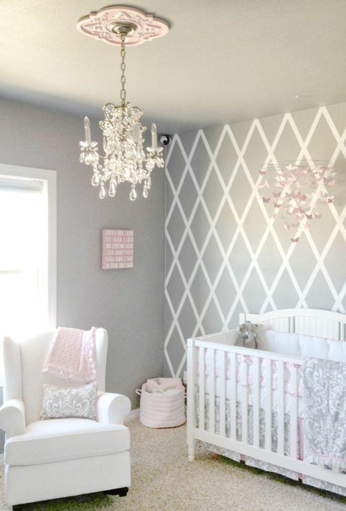 kinderzimmer einrichten einrichtungsideen in grau und weiß rosa - einrichten in grau wei bilder