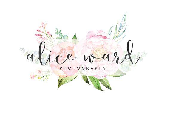 watercolor photography logo calligraphy logo cute logo wedding