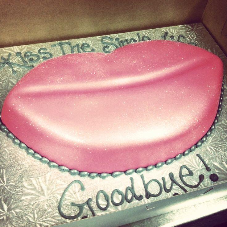 Bye Bye Single Life Party Ideas Bachelorette Cake Bling Bachelorette Party Ideas Bachelorette Party Cake
