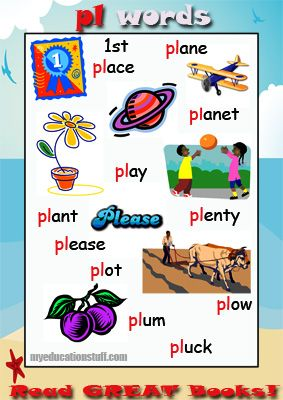 FREE, PRINTABLE phonics Poster for words starting with pl - Nice ...