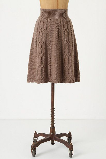 Flowing Cables Sweater Skirt - anthropologie.com