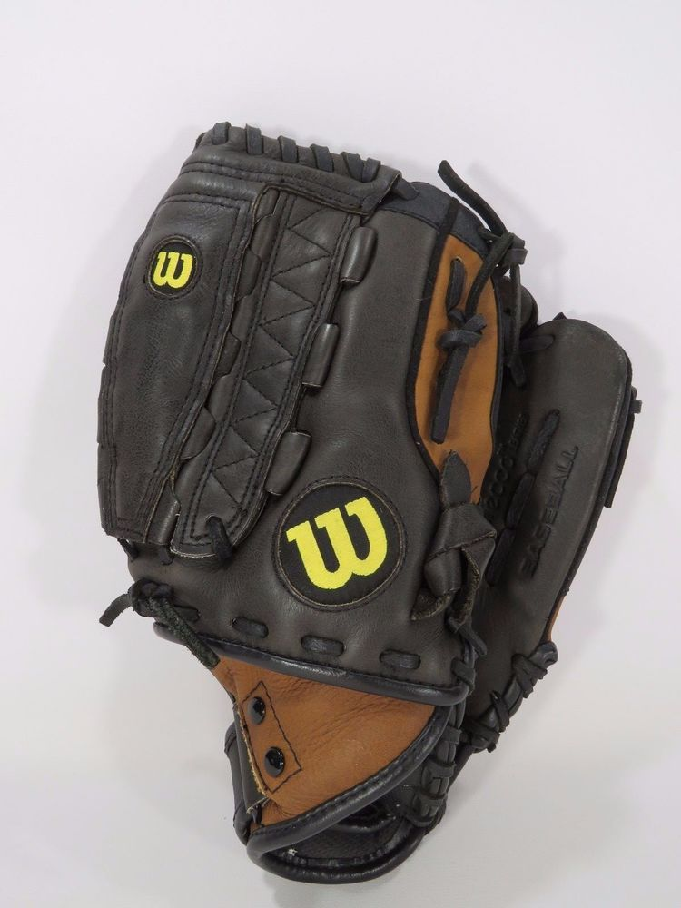 Wilson A500 Baseball Glove Black Ecco Leather Right Handed
