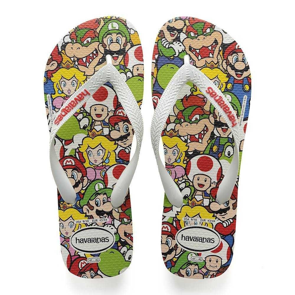 4fa65a0d49d2 Havaianas Kids Mario Bros Sandal White Price From  £19.36 Super Mario