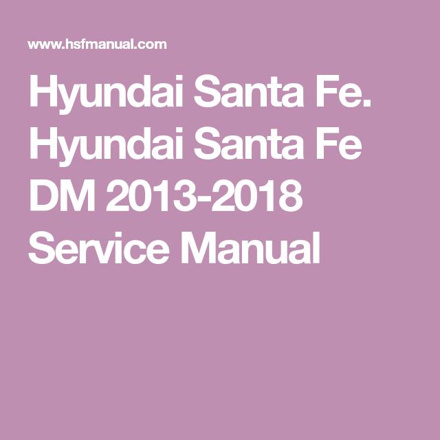 2001 2009 Hyundai Sante Fe Haynes Repair Manual Hyundai Santa Fe Hyundai Automotive Repair