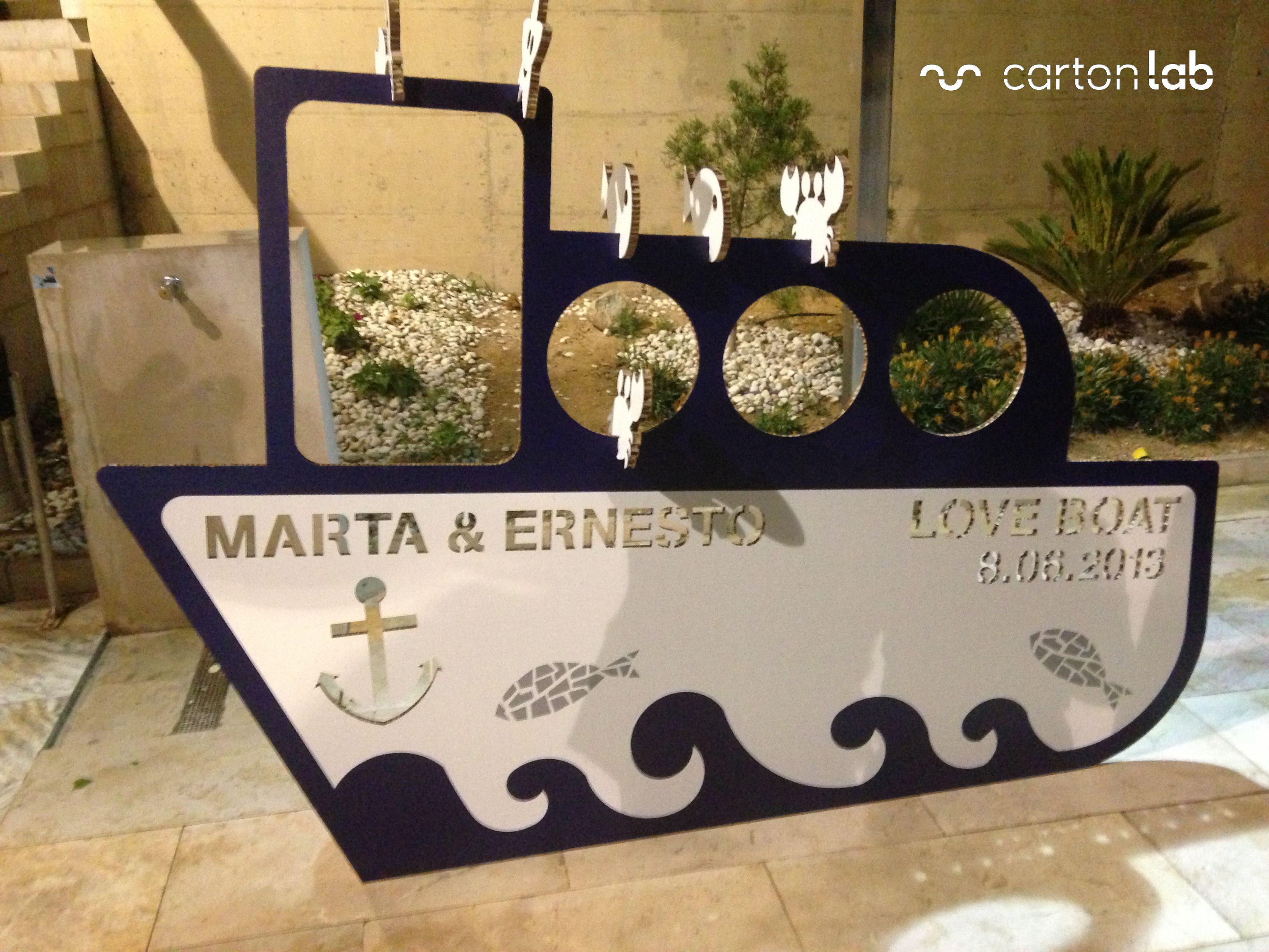 Barco personalizado en #carton #bodas #celebraciones por #cartonlab ...
