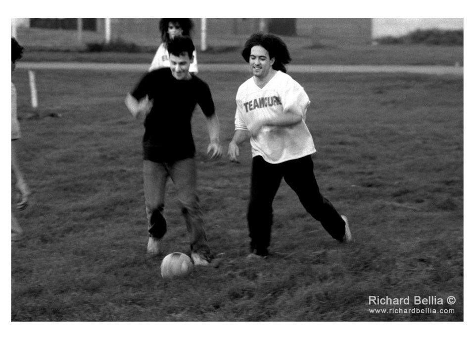 The Cure playing soccer