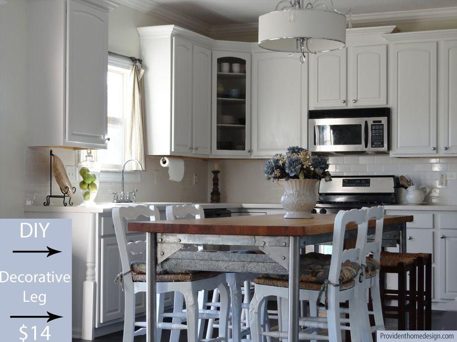Adding wood trim to kitchen cabinets | Budget kitchen ...