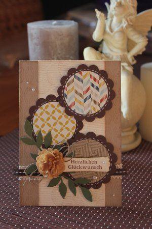 Geburtstagskarte mit Kaffeefilterblume und Wellenkreisstanze, Bild1, mit Produkten, Stempeln und Stanzen von Stampin' Up!