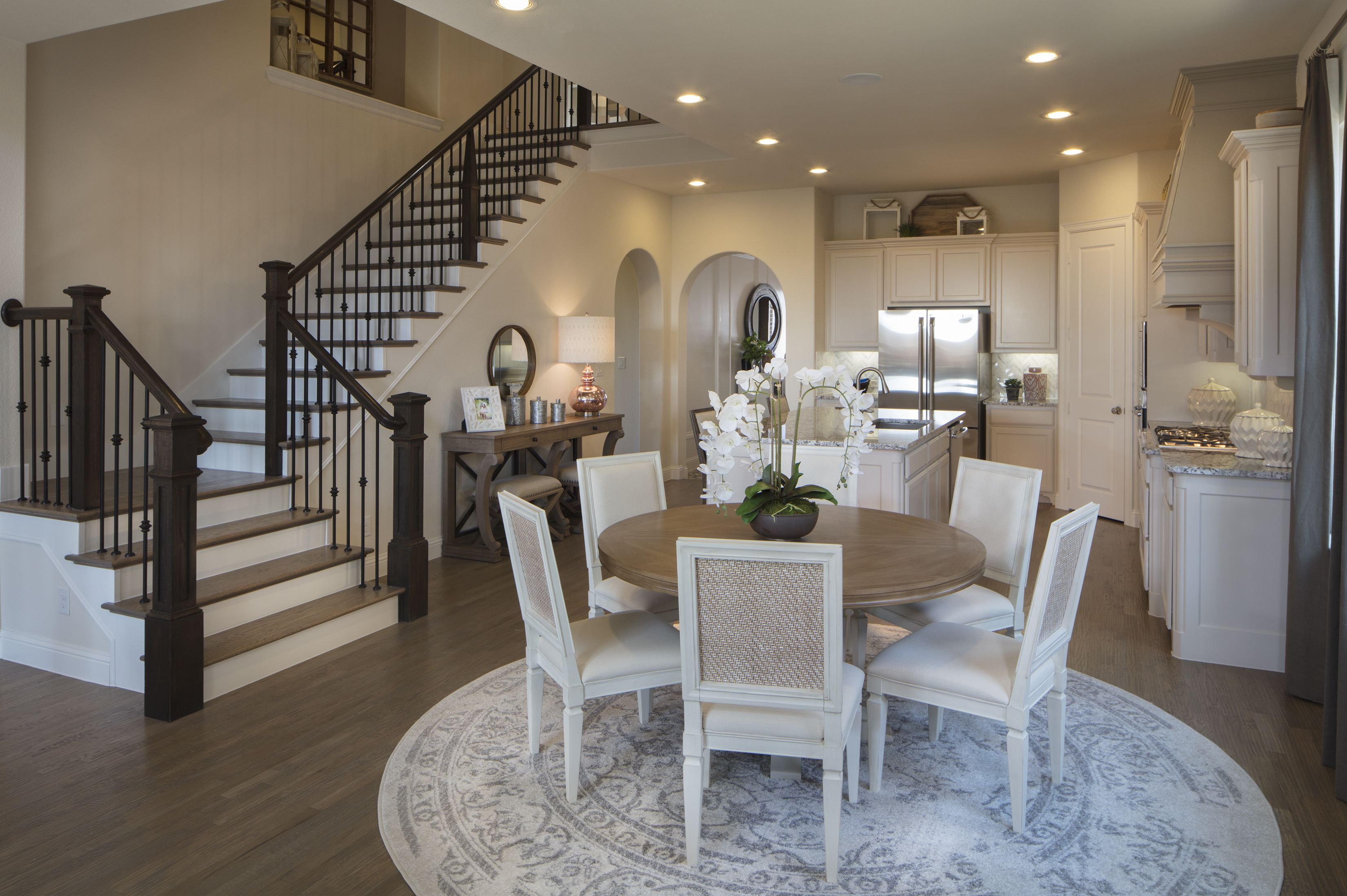 Step Into Stylishliving Staircase Kitchen Instaliving Luxlife Newhome Dallas Diningroom Breakfast Nook Table Home New Homes