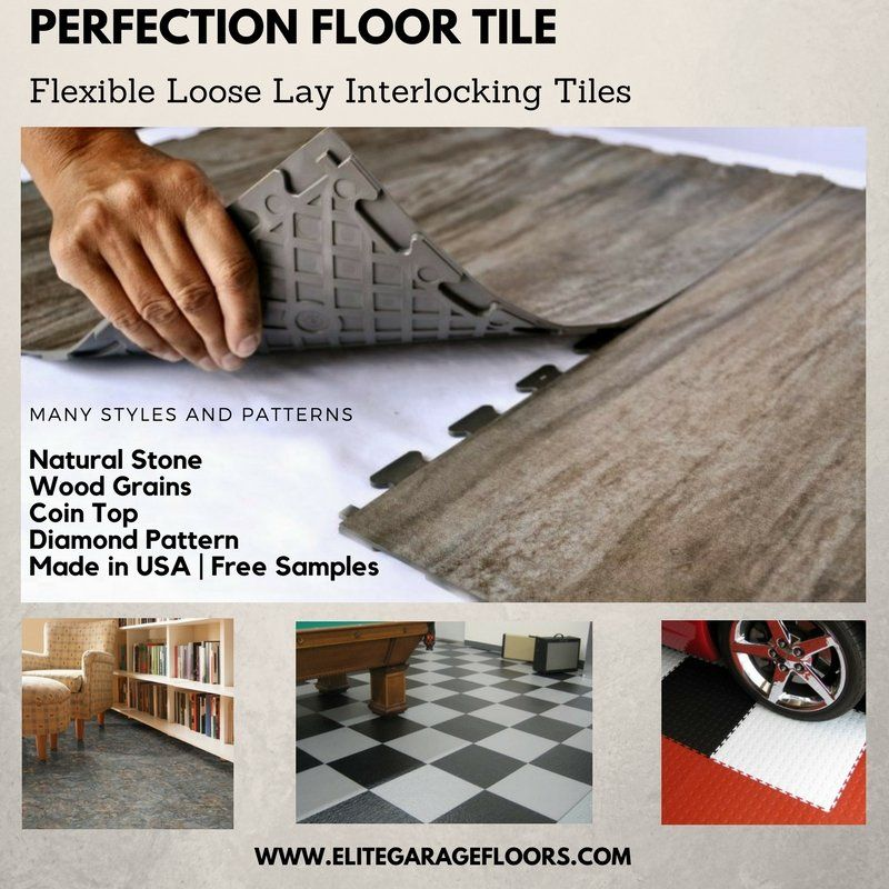 Perfection Floor Tile Flexible Interlocking Tiles Many Styles Natural Stone Wood Grains Coin Top Dia Vinyl Plank Flooring Bathroom Flooring Pvc Flooring