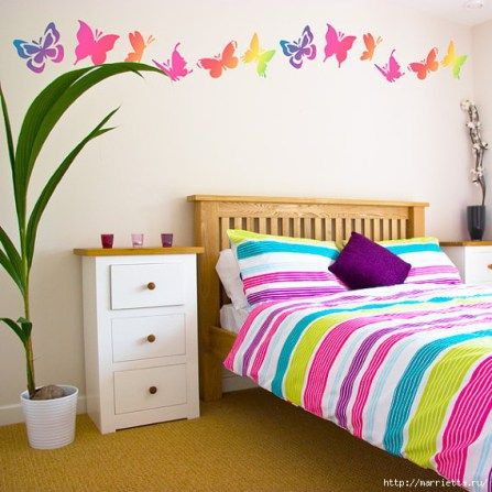 decorar paredes con stencil