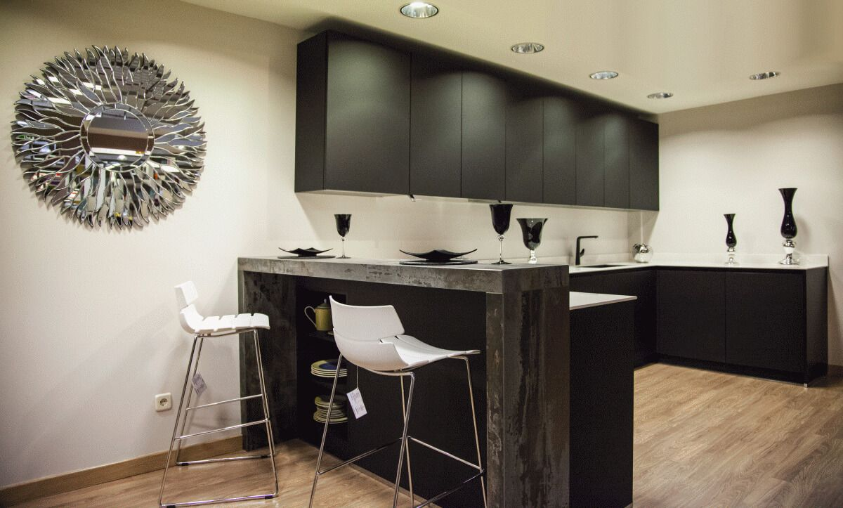 Barra de desayuno dekton modelo trilium muebles de - Isletas de cocina ...