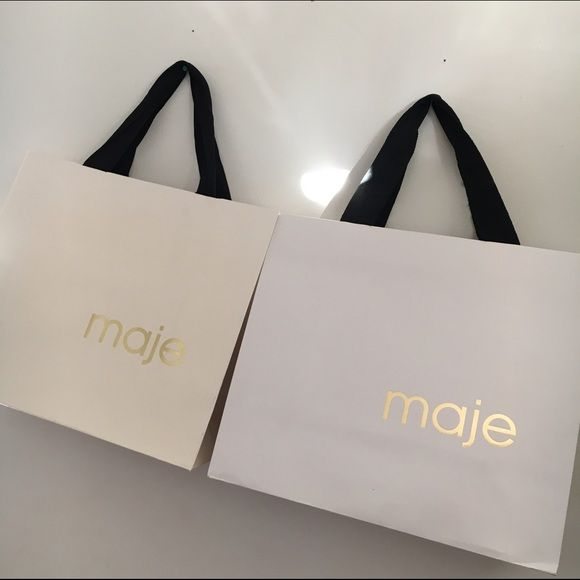 2 medium Maje shopping bags Make your sales more professional with ...