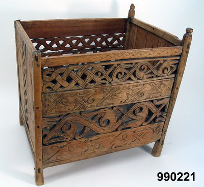 13th Century Wool Basket For Storing Spinning Ready Wool. From Sweden,  Dalarna.