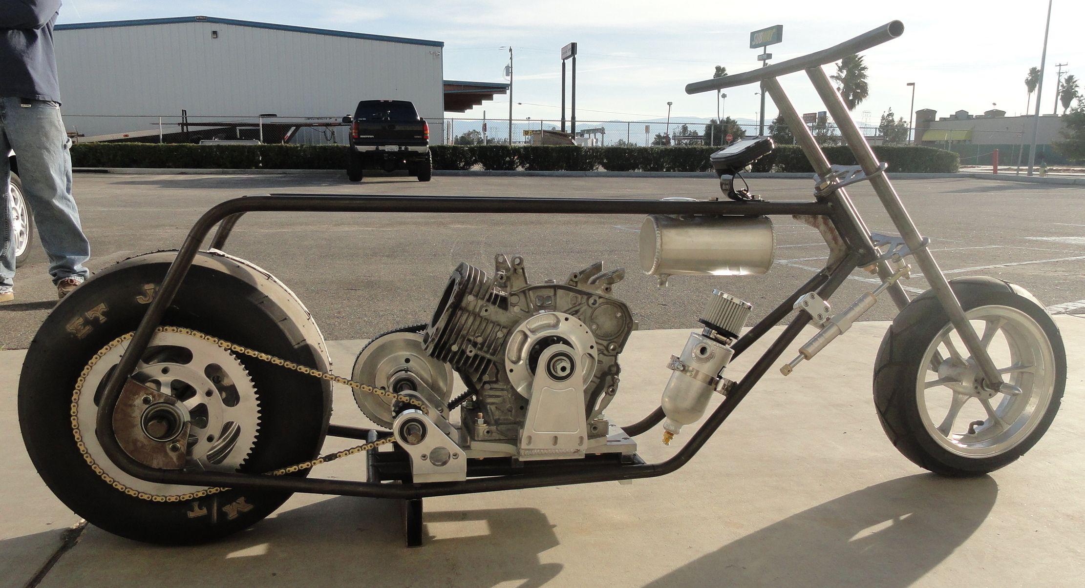 Mini Drag Bike In The Mock Up Stage Mini Motorbike Go Kart