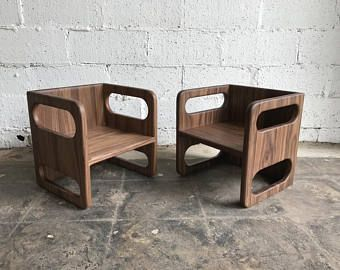 Ella Adams Kids Table And Cube Chairs