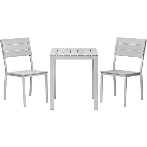 Ikea Falster Bistro Set Gray Outdoor
