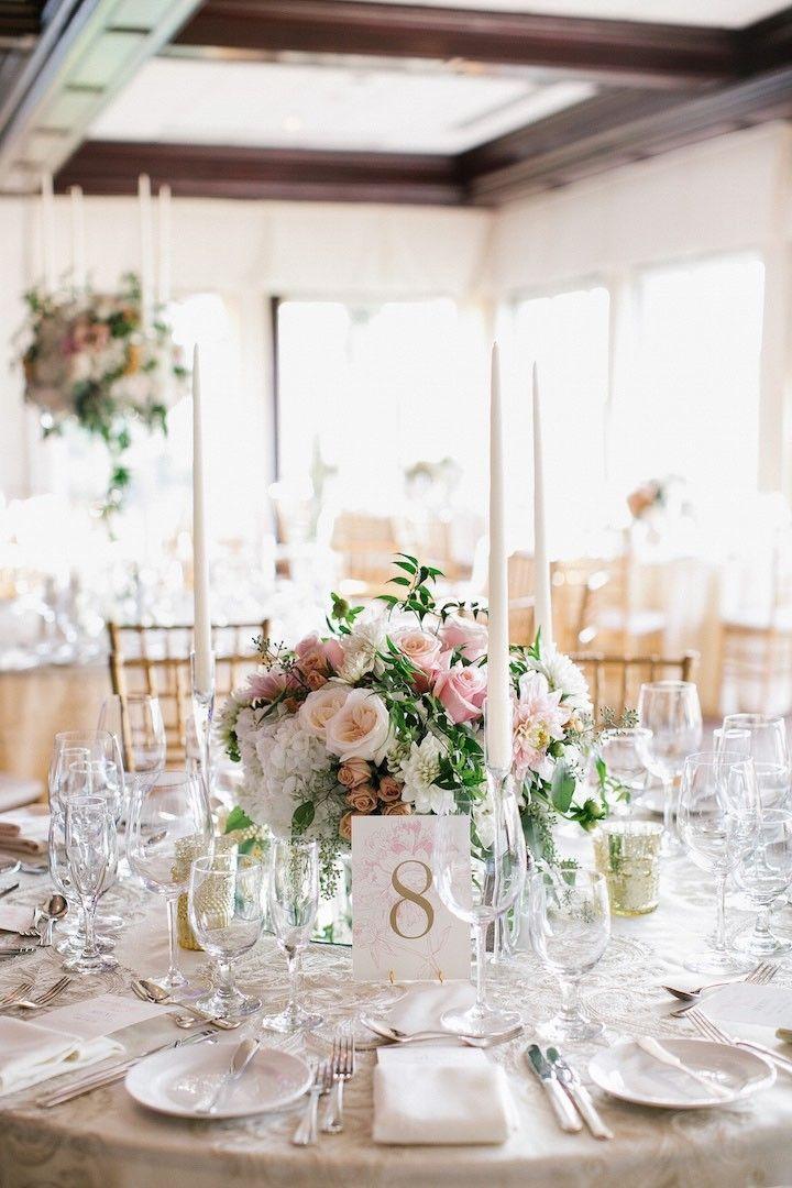 Elegant And Romantic New York Wedding Modwedding Pink Wedding Centerpieces Wedding Centerpieces Wedding Table Centerpieces