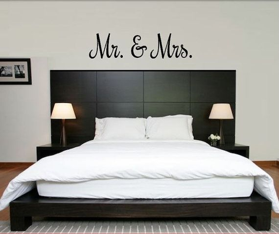 Mr And Mrs Decal   Mr And Mrs Wall Decal In Variety Of Fonts U0026 Colors   Mr  And Mrs Bedroom Decal   Wedding Decal   Mr And Mrs Wedding Decal