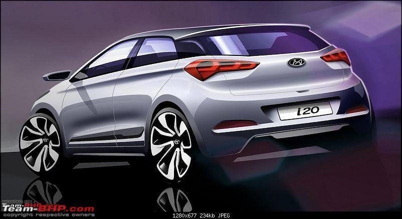 Scoop Pics Next Gen 2014 Hyundai I20 Spotted Testing In India 2015hyundaii20elitei20renderingimagerear Jpg Carros Veiculos Auto