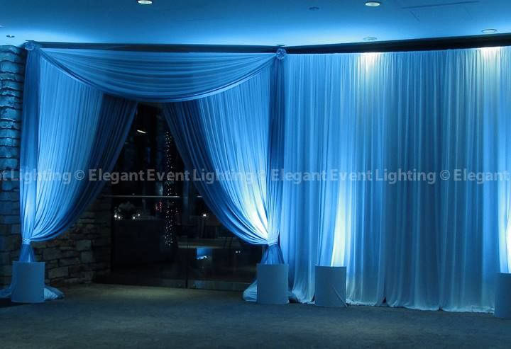 The Elegant Event Lighting Chicago crew created a beautiful drape entrance to welcome Therese Jeffu0027s guests & The Elegant Event Lighting Chicago crew created a beautiful drape ... azcodes.com
