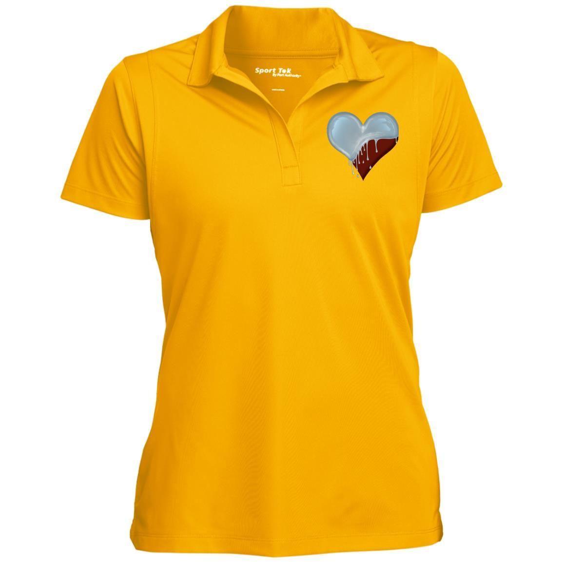 Dripping Heart LST650 Sport-Tek Women's Micropique Tag-Free Flat-Knit Collar Polo