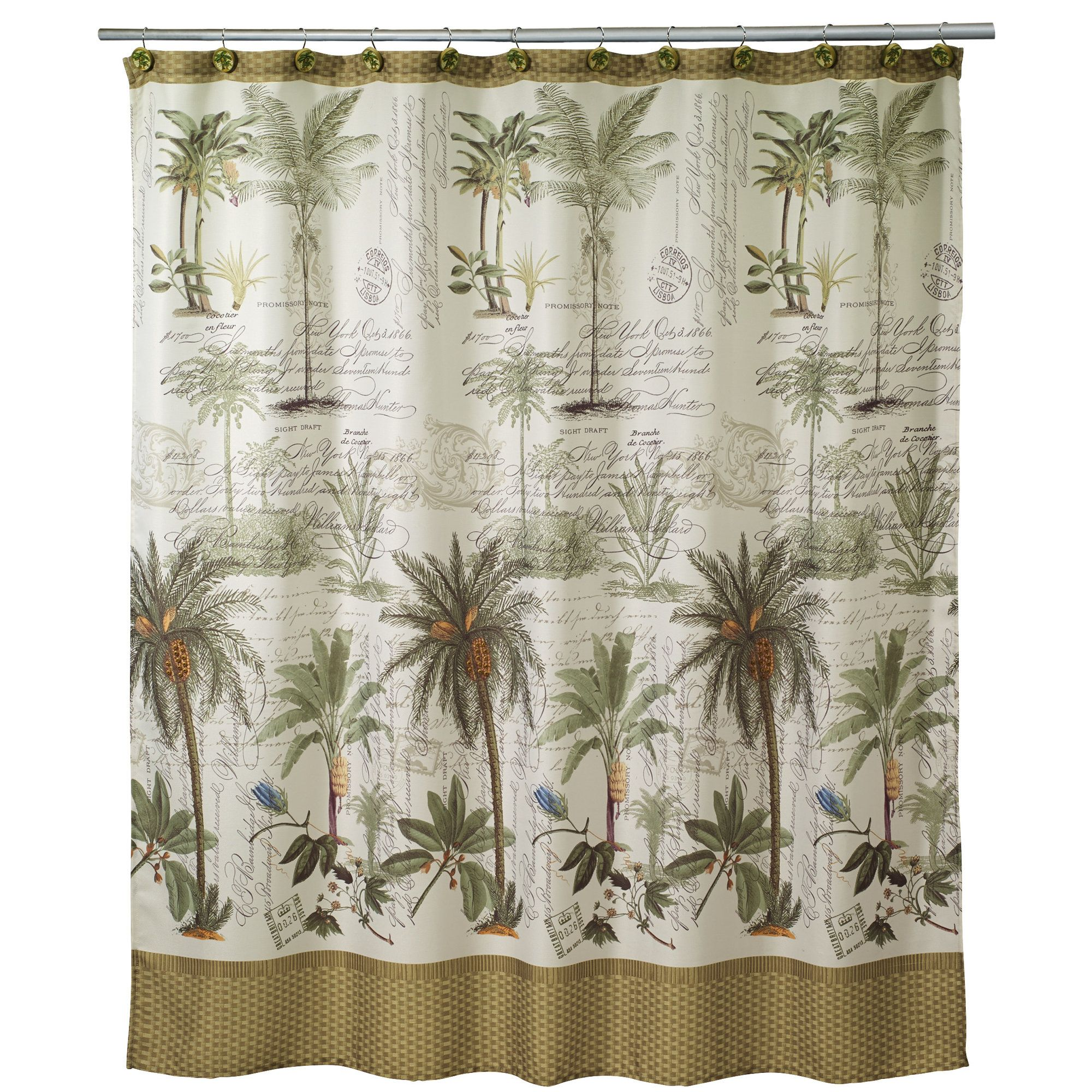 Colony Palm Shower Curtain