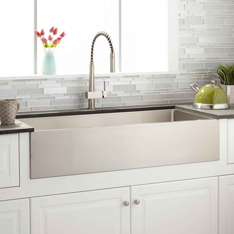 42 atwood stainless steel farmhouse sink kitchen