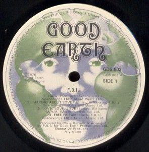 F.B.I.  1976 LP label 1
