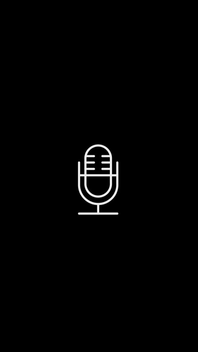 Voice Record App Store Icon Ios Icon Black App