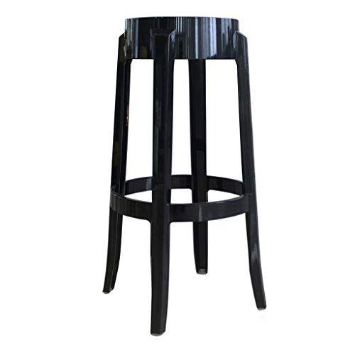 Phenomenal Cjh 65Cm Plastic Stool Thickened Acrylic Dining Chair Customarchery Wood Chair Design Ideas Customarcherynet