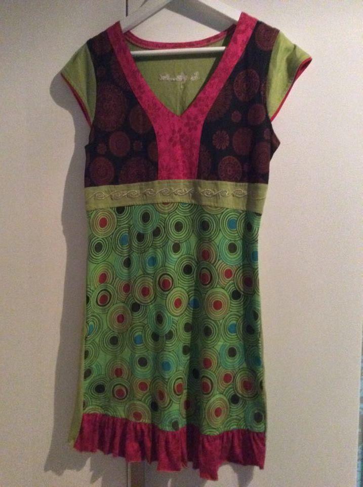1 Kleid aus Indien Nepal Hippie Goa Stretch Einzelstueck handgemacht neu Nr. 2