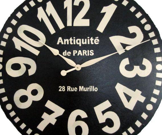 Murillo Extra Large Wall Clock Etsy Listing At Https Www Etsy Com Listing 194564367 Large Wall Clock 36 Inch Murillo Large Wall Clock Clock Paris Wall Clock