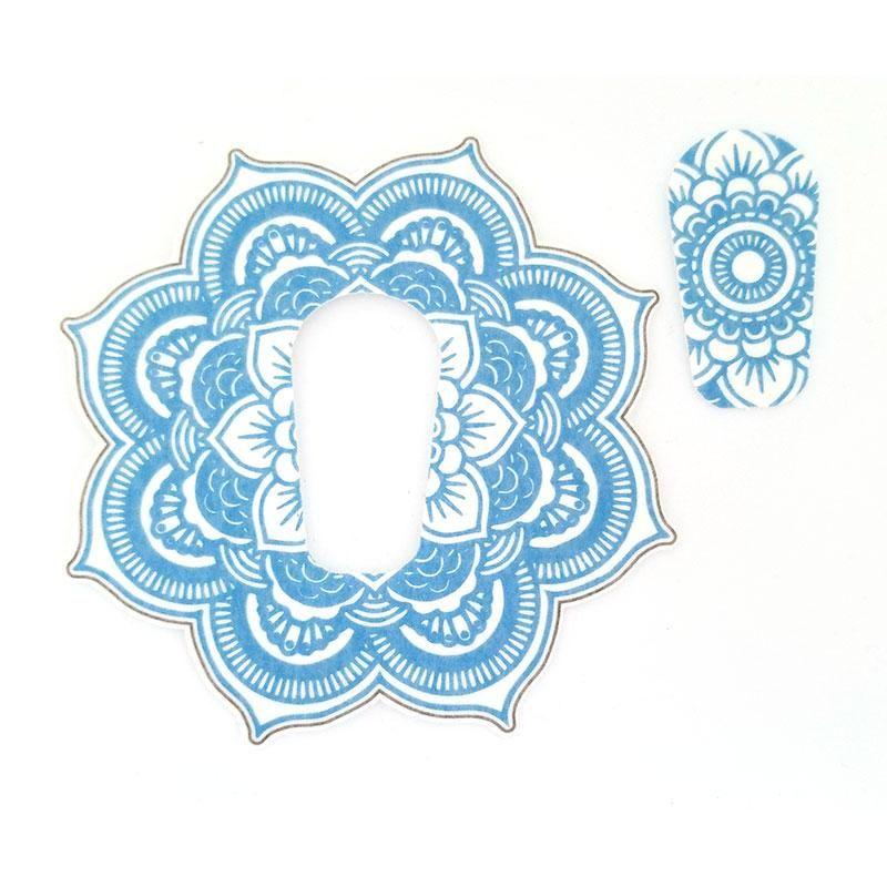 Dexcom G6 Silly Patch Light Blue Mandala Patches Hand
