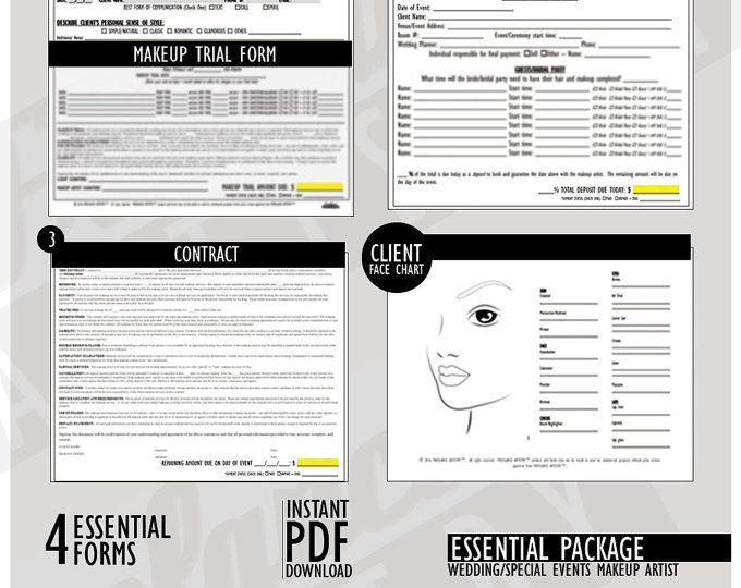 Freelance Makeup Artist Contracts Value Package Wedding Etsy Freelance Makeup Freelance Makeup Artist Makeup Artist Kit