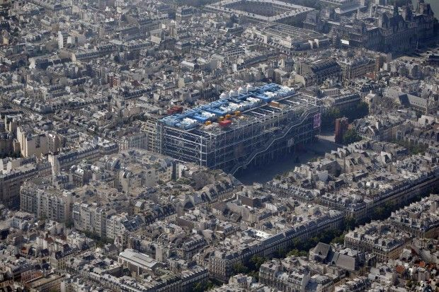 Centre Pompidou visto dall'alto - Foto di Charles Platiau