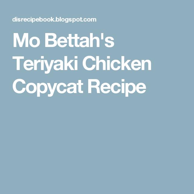 Mo Bettah S Teriyaki Chicken Copycat Recipe Chicken Teriyaki Recipe Teriyaki Chicken Teriyaki Chicken Crock Pot