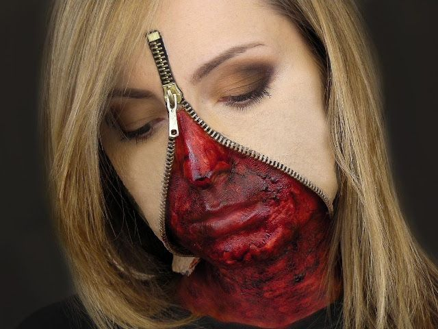 creepy zipper face halloween costume  sc 1 st  Pinterest & creepy zipper face halloween costume | Halloween | Pinterest ...
