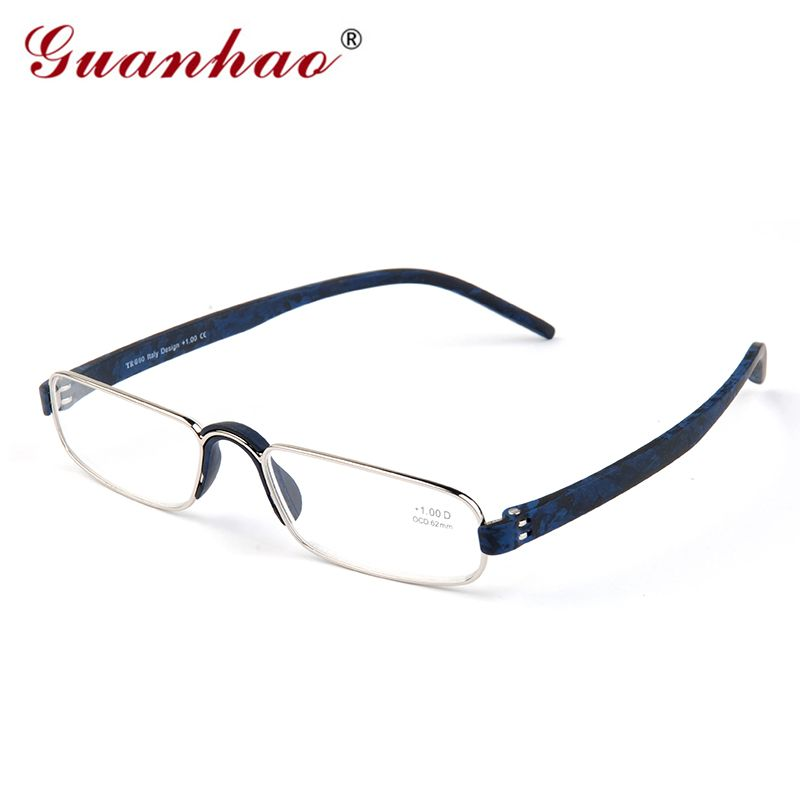 US $10.58 Guanhao Transparente Gafas de Lectura Óptica Claro Hombre ...