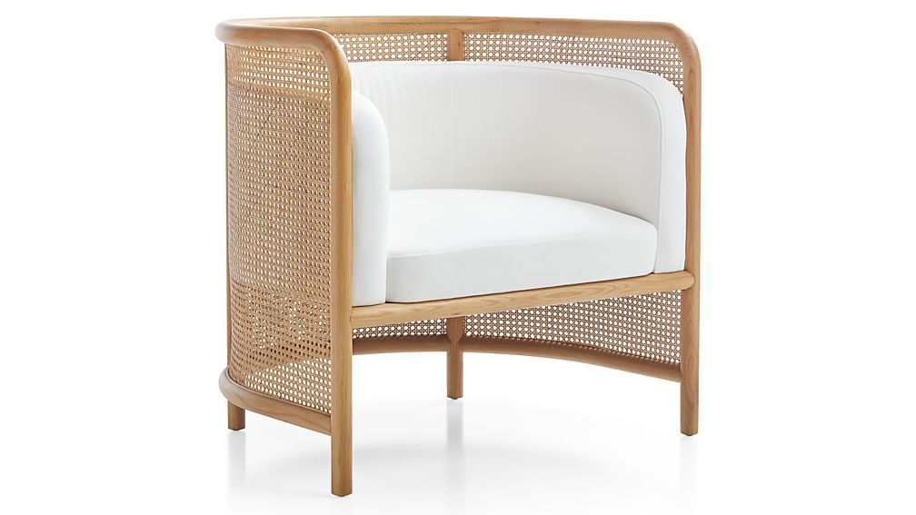 Fields Cane Back White Accent Chair In 2020 White Accent Chair