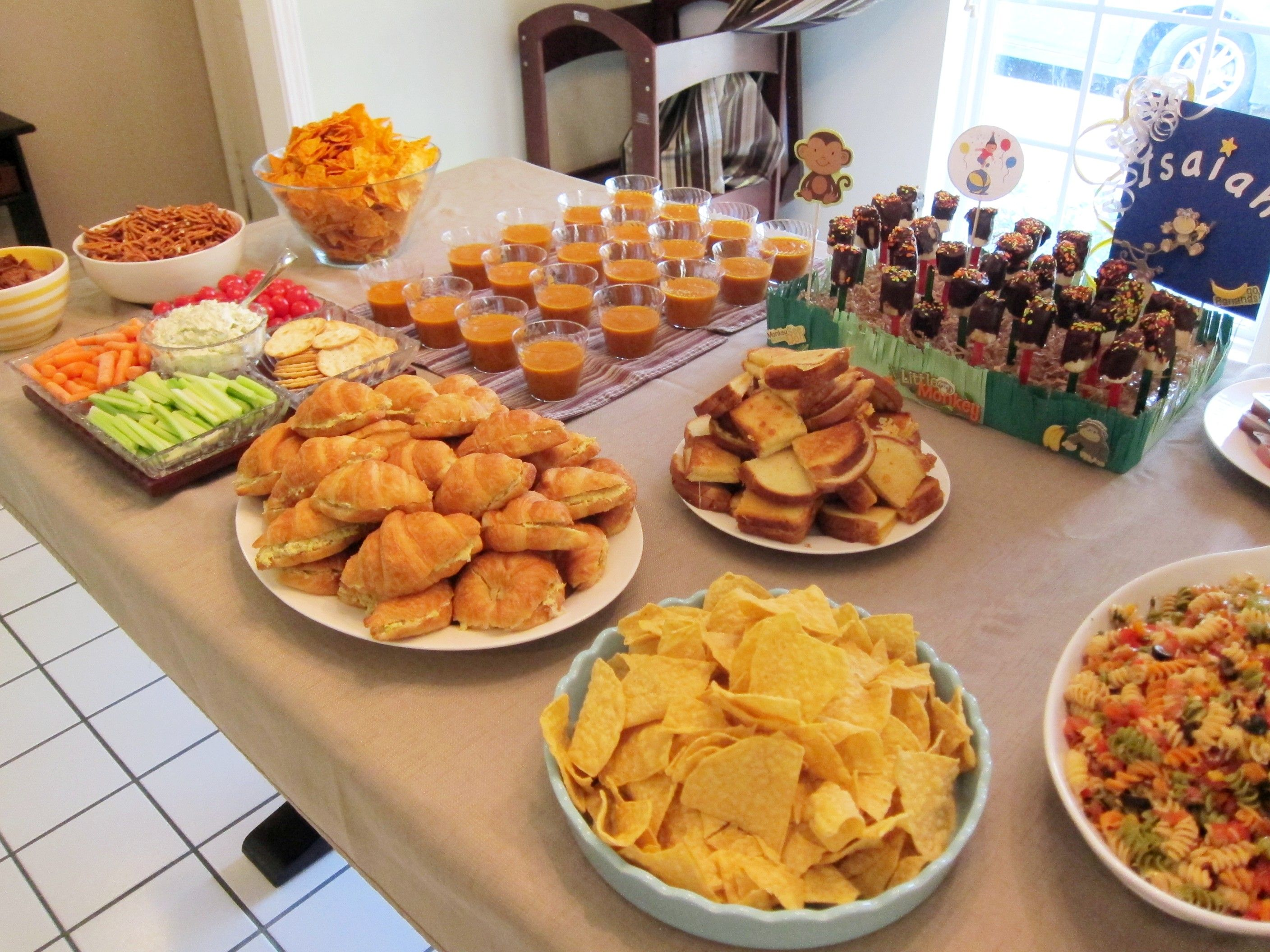 Curious george kids birthday party ideas food google for Easy food ideas for parties